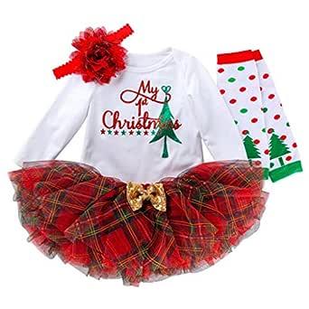 BBSMLIN Conjunto Bebe Navidad Disfraz Niña 0-24 Meses My First ...