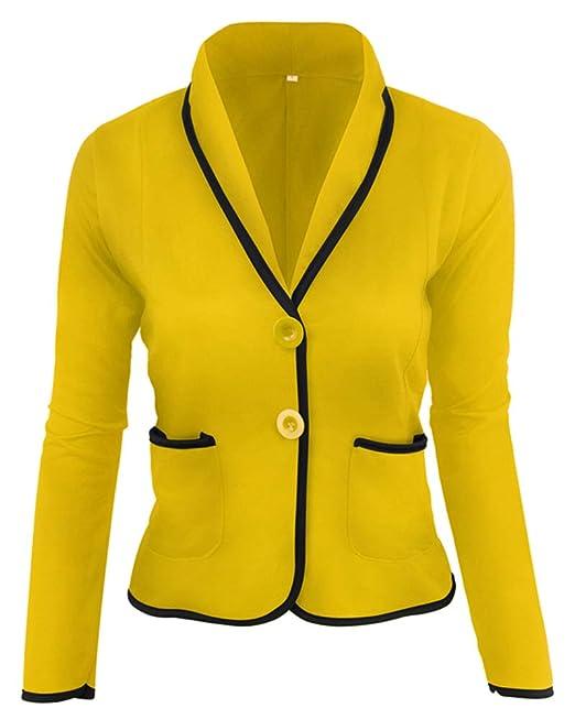 Giacche Elastiche Donna Taglie Forti Casual Classic Blazer Giacca da Lavoro   Amazon.it  Abbigliamento ba6f03769435