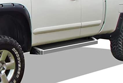 Silver 5 inches APS iBoard Step Rails for 2004-2019 Nissan Titan Crew Cab Pickup 4-Door /& 16-19 Titan XD Side Steps Running Boards Nerf Bars