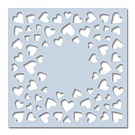 Sweet Dixie 15,2 x 15,2 cm stencil – Alpha upper case, off/bianco SDST0011