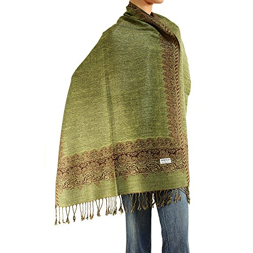 Women's Woven Double Side Pashmina Shawl Wrap Scarf 80