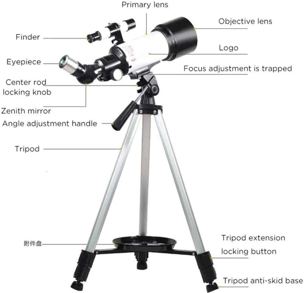 Color : White, Size : 45-122cm Shenghua1979 Telescope 16//40X HD Refractive Astronomical Telescope High Magnification Zoom Monocular for Kids Children Teens Adult Astronomical Telescope