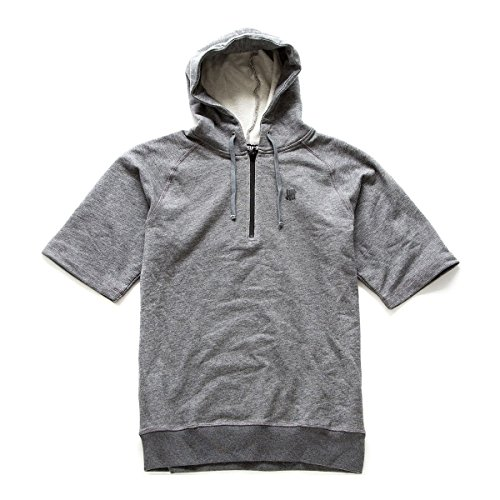 Undefeated Men's Solid Tech Short Sleeve Hoodie, Dark Grey