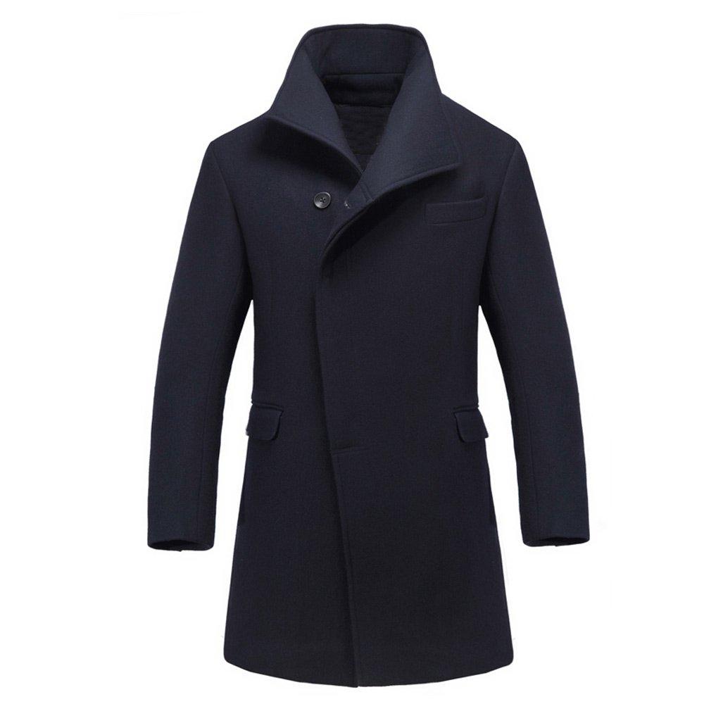 都教授叫獸同款 男士春季風衣修身新款 羊毛呢子大衣男式中長大碼圖片