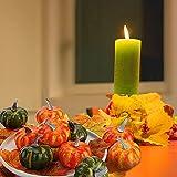 HAKACC Fake Pumpkins, 12 PCS Artificial Pumpkins
