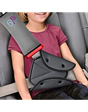 Seat Belt Adjuster and Pillow and Cover with Clip for Kids Travel with Baby on Board Decal Sticker, Neck Support Headrest Child and Short Adult, Car Seat Strap Cushion Pads for Baby Kids