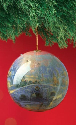 (Thomas Kinkade Spirit of Christmas Light Up Decoupage Ornament)