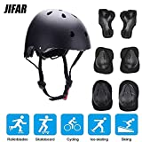 Toys : JIFAR Youth Kids Bike Helmet for Ages 3-14, Adjustable Toddler Protective Gear with Elbow Knee Wrist Pads for Skateboarding Bicycling Hiking, S Size for Girls Boys Helmet Black