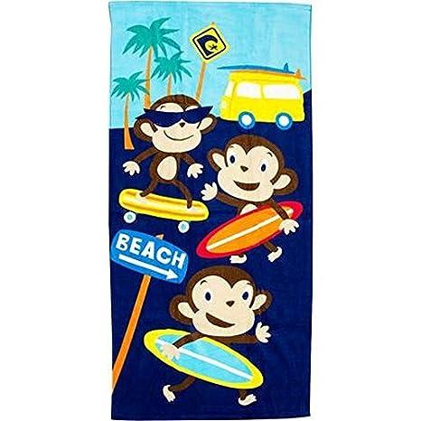 Surf Town Mono Fibra reactiva - Toalla de playa (28 x 58 Por Pilares: Amazon.es: Hogar