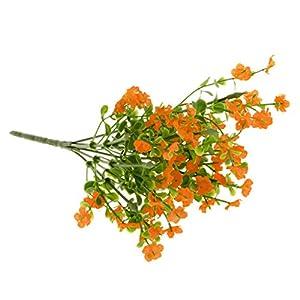 Artificial Gypsophila Floral Flower Fake Silk Wedding Bouquet Home Decor 7Colors Pick - Orange, 33cm 91