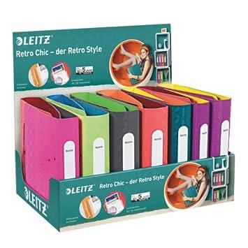 Leitz - Juego de 15 archivadores, diseño retro, varios modelos: Amazon.es: Oficina y papelería