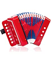 Horse Button Accordion,10 Keys Control Kids Accordion Musical Instruments for Kids Children Beginners Lightweight and Environmentally-friendly