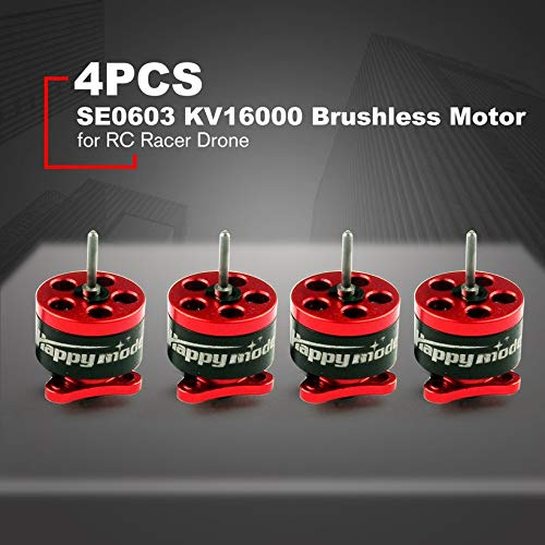 Wikiwand 4PCS Happymodel SE0603 CW/CCW KV16000 Brushless Motor for RC Racer Drone by Wikiwand (Image #2)