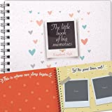 Couple's Photo Album for Scrapbooking, Memory Books, and Creative Memories Includes Scrapbook Supplies - 6x8 inches (24 Sheets)
