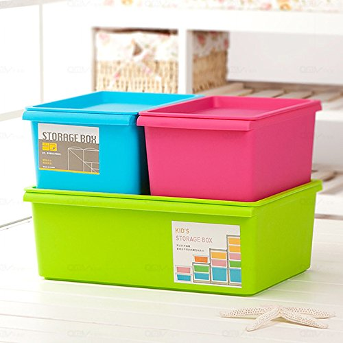 Candy colored Clothing Covered Plastic Storage