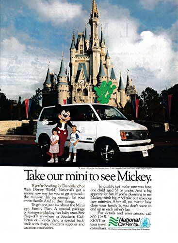 - 1989 Chevrolet Astro Cinderella Castle-Original 13*10.5 Magazine Ad
