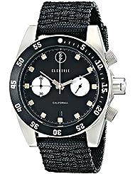 Electric Mens EW0070020016 DW02 Nato Band Analog Display Japanese Quartz Black Watch