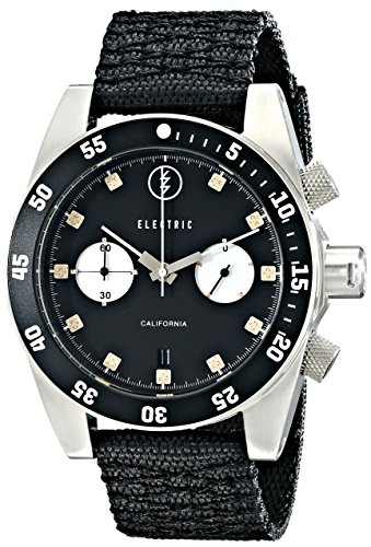 Electric Men's 'DW02 NATO Band' Quartz Stainless Steel and Nylon Sport Watch, Color:Black (Model: EW0070020016) ()