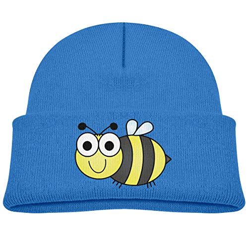 Kids Knitted Beanies Hat Bumblebee Winter Hat Knitted Skull Cap for Boys Girls Blue (Cap Toddler Bee Bumble)