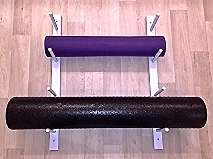 Amazon.com: Rodillo de espuma/esterilla de yoga Rack de ...