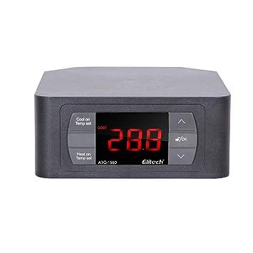 Therm Controlador digital de temperatura termostato relés duales todo incluido controlador, una sonda recubierta de