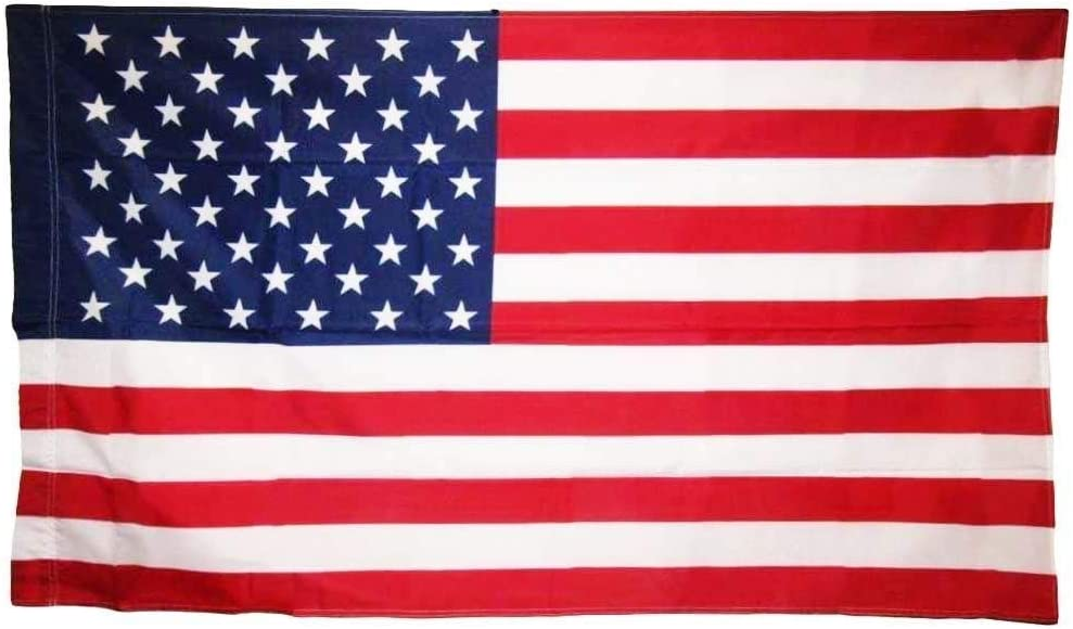 Trade Winds 28x40 USA American United States Flag Pole Sleeve Sleeved Polyester Printed 2.5'x4' Fade Resistant Premium Quality (Imported)