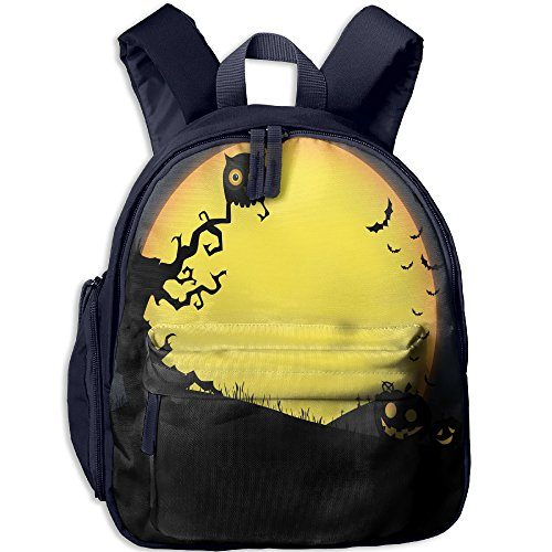 LYQ Harbour Kids School Bags Cry Halloween Night Backpacks Outdoor Bags