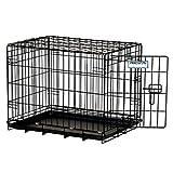 """Precision Pet 7011241 """"ProValu, """" Single Door Dog Crate, Black"""