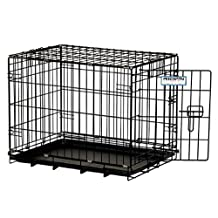 "Precision Pet 7011241 ""ProValu, "" Single Door Dog Crate, Black"