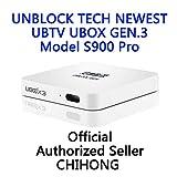 UNBLOCK Tech Newest Gen.3 S900 Pro Overseas Smart TV Box Chinese Channel 安博盒子第三代 UBOX Android 5.1 Interne IPTV Box, 8 Core CPU 16GB 4K Streaming Media Player 安博三代盒子海外版