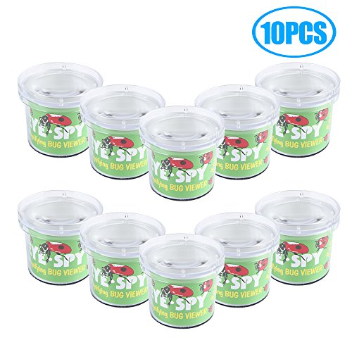 SainSmart Jr. Bug Critter Cage Magnifying Bug Viewer, Science Nature Exploration Toys Insect Explore (10 PCS) (Kids Bug Cage)