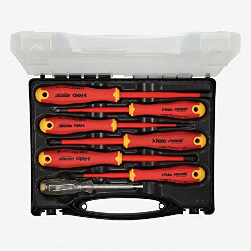 Felo 0715762745 E-Slim Insulated Screwdriver Set, Slotted &