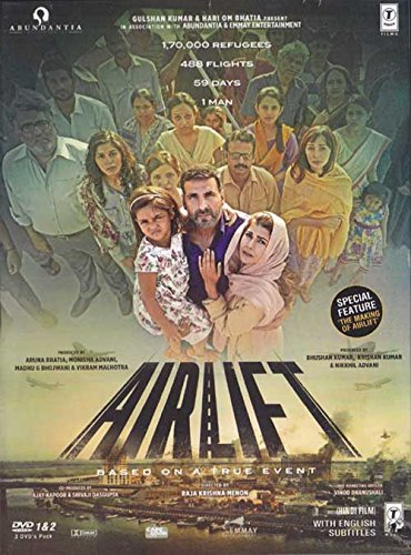 - Airlift - 2016 Hindi Movie DVD / 2-Disc Special Edition / Region Free / English Subtitles / Akshay Kumar / Nimrat Kaur