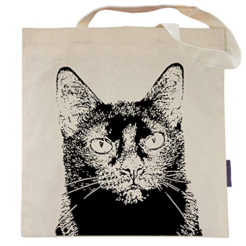 Cat Tote Bag by Pet Studio Art (Casual Tote, Jazz the Black Cat)