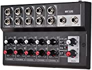 Ktoyols MIX5210 10-Channel Mixing Console Digital Audio Mixer Stereo for Recording DJ Network Live Broadcast K