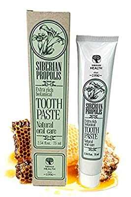 Siberian Health Natural Repair and Renewal Toothpaste, MOST COMPREHENSIVE ORAL CARE, strengthen TEETH and GUMS, inhibit BAD BREATH, has ANTIBACTERIAL and ANTIVIRAL, FLUORIDE FREE