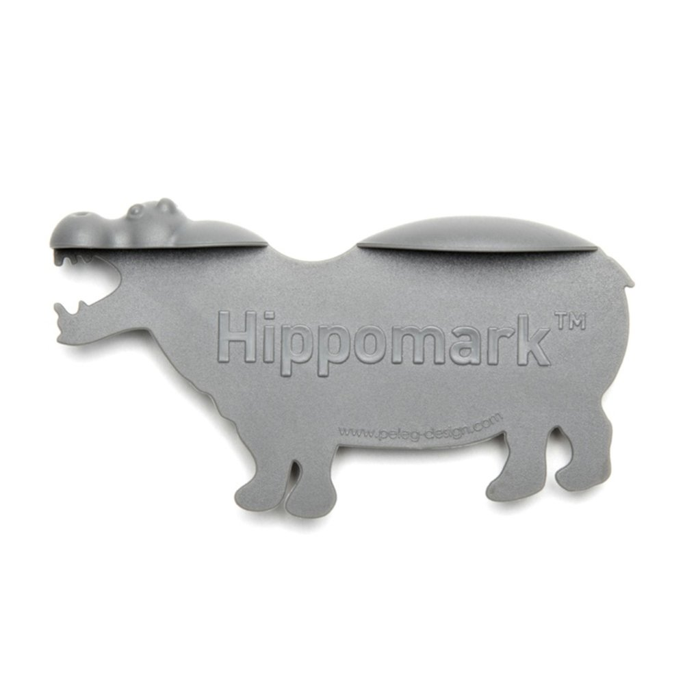 PINSHANG Novelty Hippo Plastic Bookmark Gray Unique Gifts or Decor