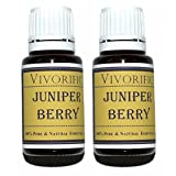 Juniper Berry Essential Oil (Pack of 2)-Therapeutic Grade 100% Pure and Natural (15 ml)-Great for Aromatherapy, Relieving Mental Fatigue, Alleviating Anxiety and More-Vegan and Kosher Certified