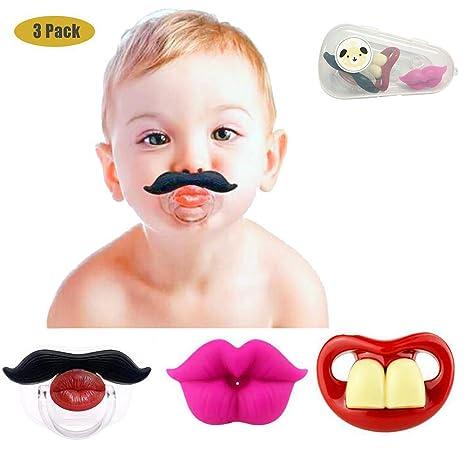 Chupetes divertidos para el bigote del bebé, diseño lindo ...