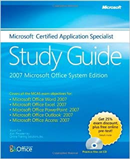 amazon microsoft certified application specialist study guide