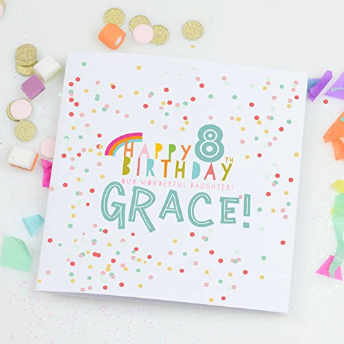 Personalised Childrens Birthday Card Confetti Amazon Handmade