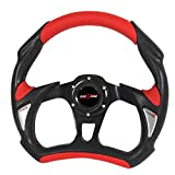 Rxmotor Universal Fit 320mm JDM Battle Racing Steering Wheel New - Acura Honda Toyota Mazda Mitsubishi etc (RED)