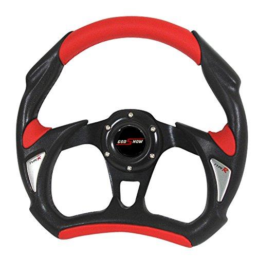 Wheel Drift (RXMOTOR WHEEL-002BR Universal Fit JDM Battle Racing Steering Wheel New, Red)