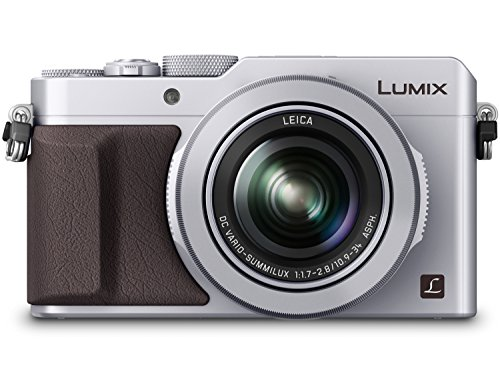 PANASONIC LUMIX LX100 4K Point and Shoot Camera, 3.1X LEICA DC Vario-SUMMILUX F1.7-2.8 Lens with Power O.I.S, 12.8 Megapixel, DMC-LX100S (USA SILVER)