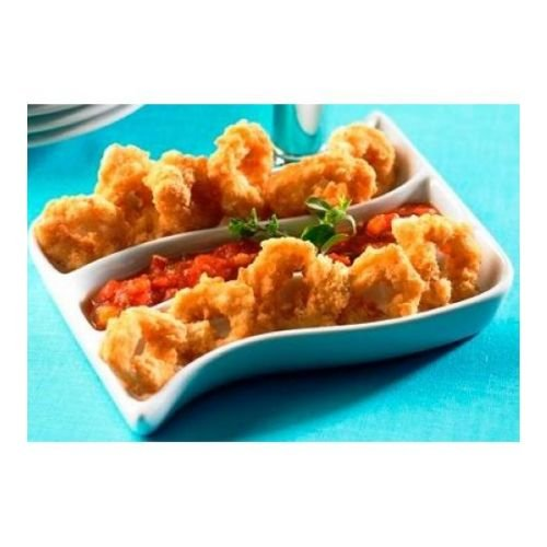 Phillips Foods Breaded Calamari Rings, 9 ounce bag -- 16 per case.