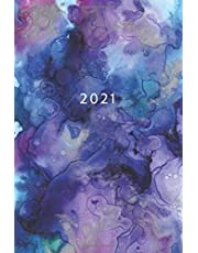 2021: Weekly Planner Week To View   6 x 9 Dated Agenda   Monday Start Appointment Calendar   Organizer Book   Soft-Cover Watercolor