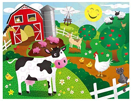 - Floor Puzzles for Kids - 100-Piece Giant Floor Puzzle, Farm Animals Jumbo Jigsaw Puzzles for Toddlers Preschool, Toy Puzzles for Kids Ages 3-5, 2 x 3 Feet