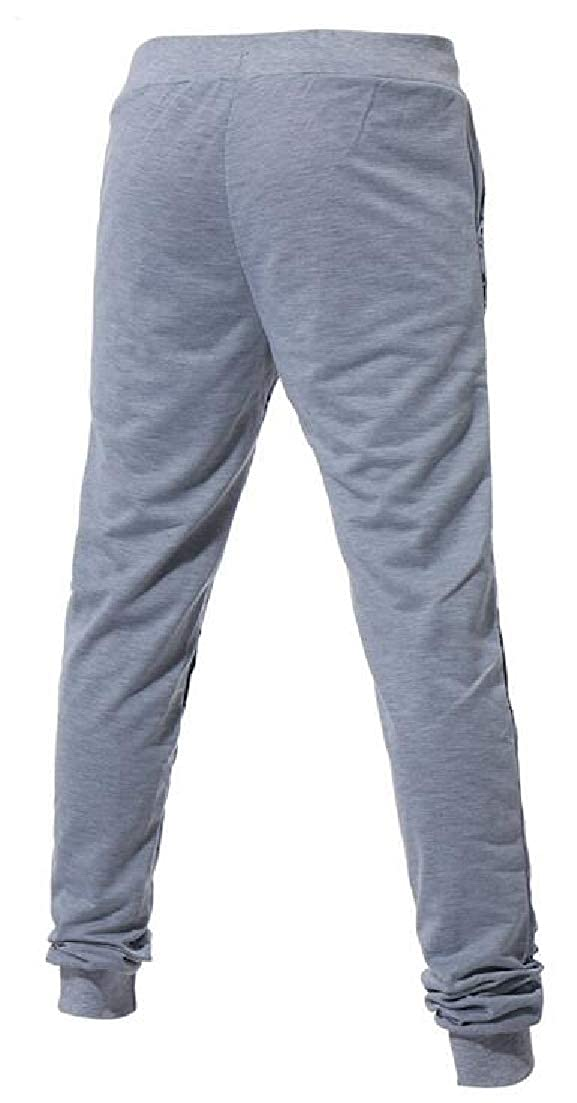 X-Future Mens Elastic Casual Printed Sport Gym Workout Jogger Pants Sweatpants Pants Trousers