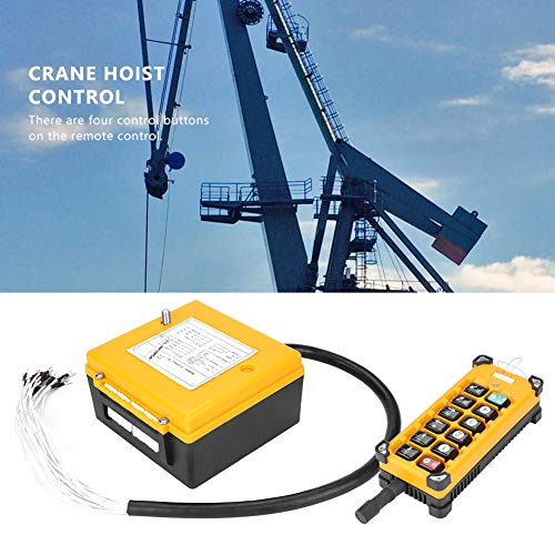 Crane Chain Hoist Push Button Switch 1 Transmitters + 1 Receiver Hoist Crane Wireless Remote Controller 12 Buttons by Wal front (Image #2)