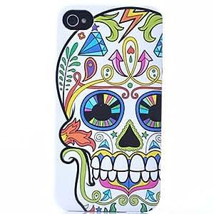 HP-Modelo del cráneo de la flor del ABS nuevo caso para el iPhone 4/4S